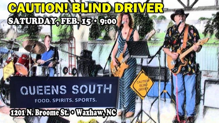 Caution! Blind Driver at Queens South - Waxhaw