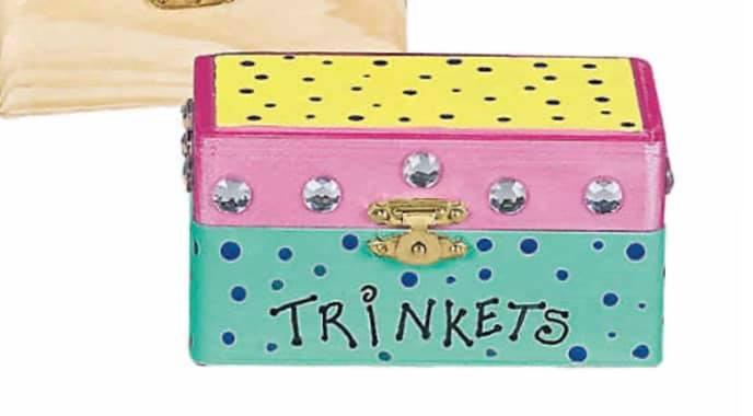 Kids Painted Trinket Box Workshop