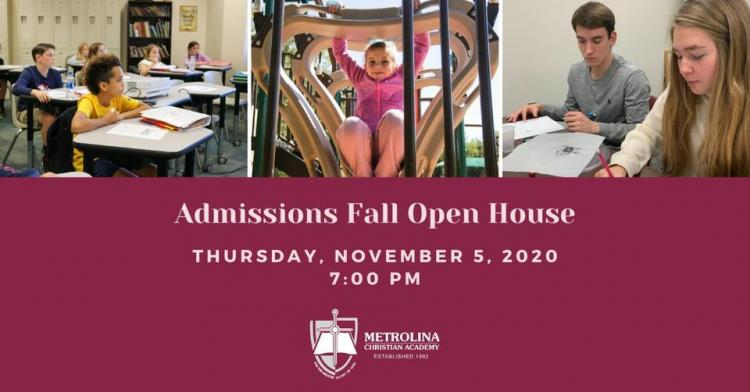 MCA Admissions Fall Open House