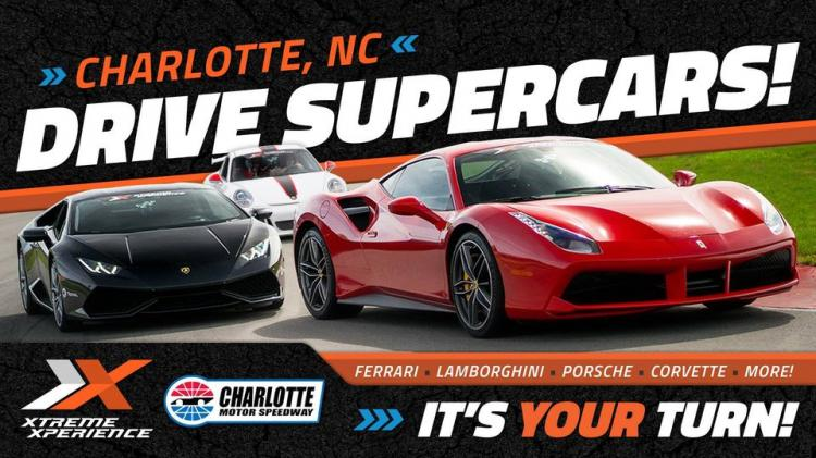 Drive A Supercar On A Racetrack At Charlotte Motor Speedway