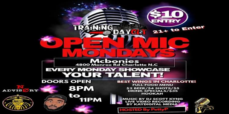 TrainingDayCLT Open Mic Mondays