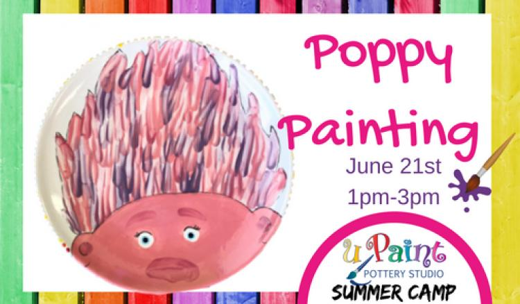 uPaint Summer Camp-Poppy Painting-Trolls