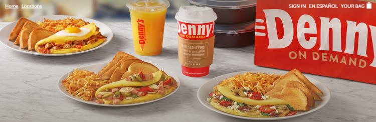 Denny's in MB Now Offers Delivery - Click Open for Direct Web Link to Order