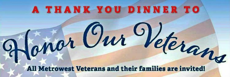 Free Dinner for MetroWest Veterans and Their Families