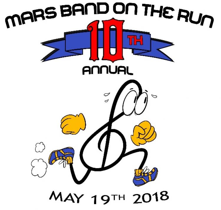 10th Annual Mars Band On The Run 5k/10k & Fun Run