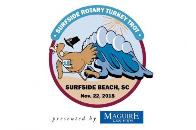 Surfside Rotary Turkey Trot at Surfside Beach sponsored by Maguire Law Firm