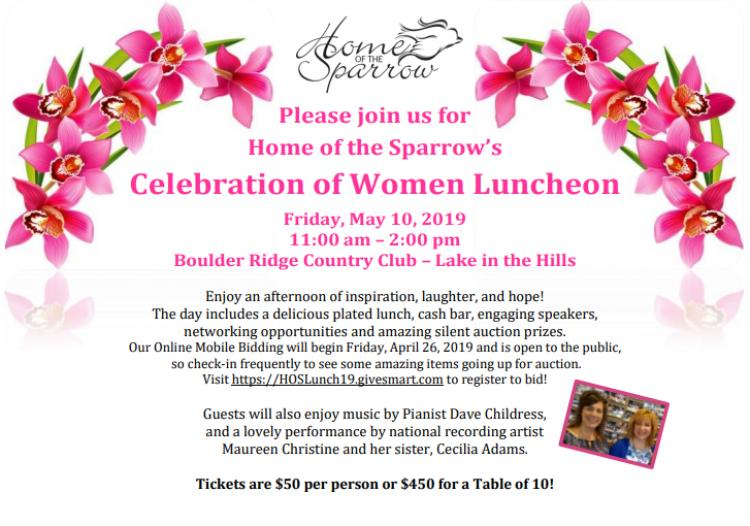 Home of the Sparrow's Celebration of Women Spring Luncheon