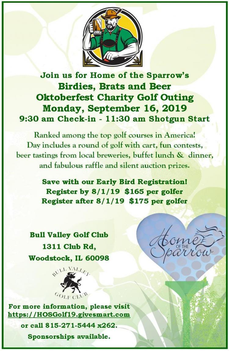Home of the Sparrow's Birdies, Brats and Beer Oktoberfest Charity Golf Outing
