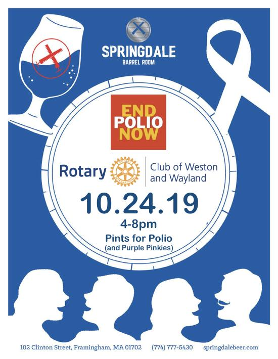 Save the Date - 10/24 - Raise-A-Pint for Polio - Framingham, MA