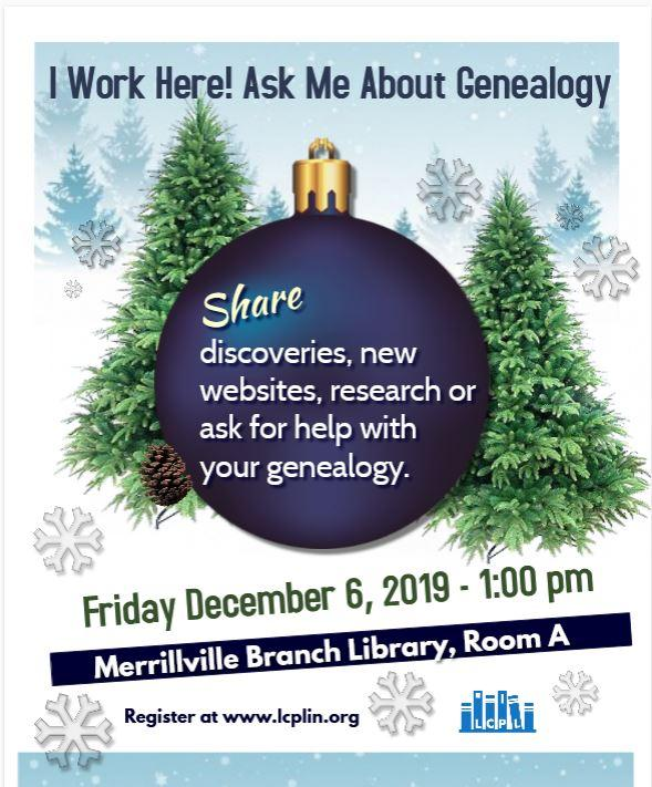 I Work Here! Ask Me About Genealogy