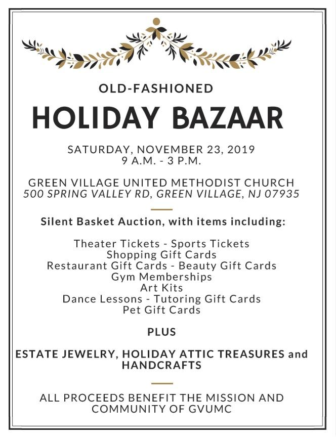 Holiday Bazaar and Silent Auction