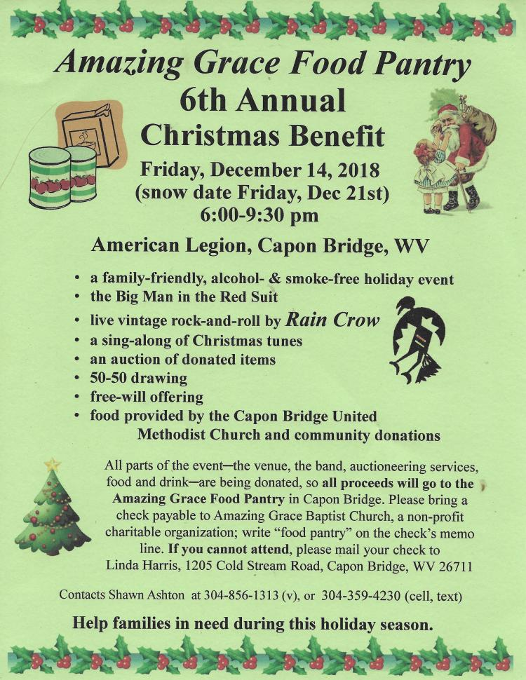 6th Annual Food Pantry Christmas Benefit