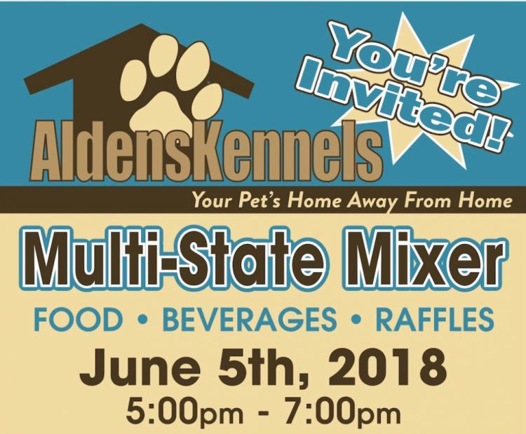 Multi-State Mixer at Alden's Kennels