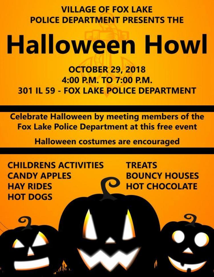 Halloween Howl at the Fox Lake Police Department