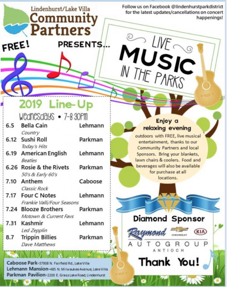 Live Music In the Park - Four C Notes