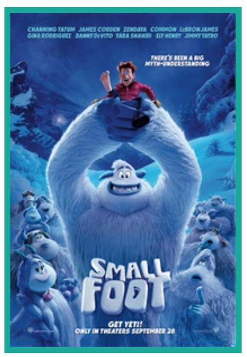 Wednesday Movies - $1 - Today - Small Foot