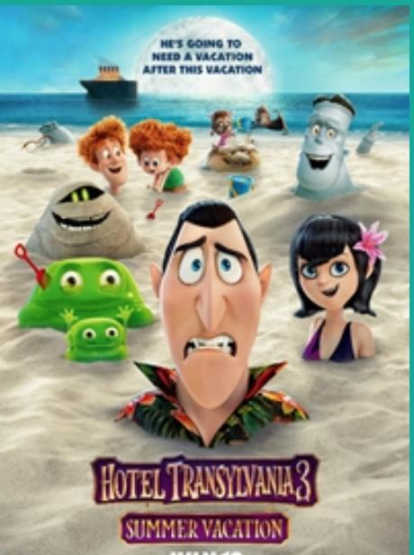 Wednesday Movies - $1 - Today - Hotel Transylvania - Summer Vacation