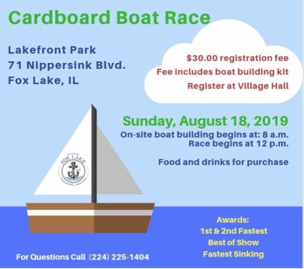 Cardboard Boat Race - Fox Lake