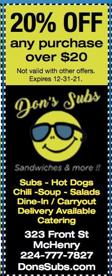 Chicago Fatty Dog & Drink ($5.50) or Chili Dog & Drink ($4) at Don's Subs