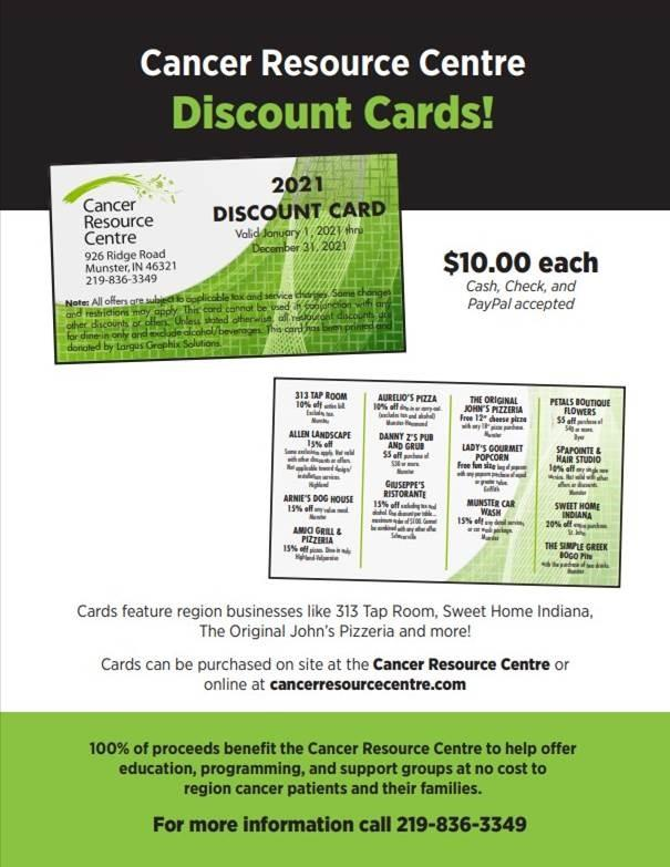 Cancer Resource Centre - Discount Card Sales