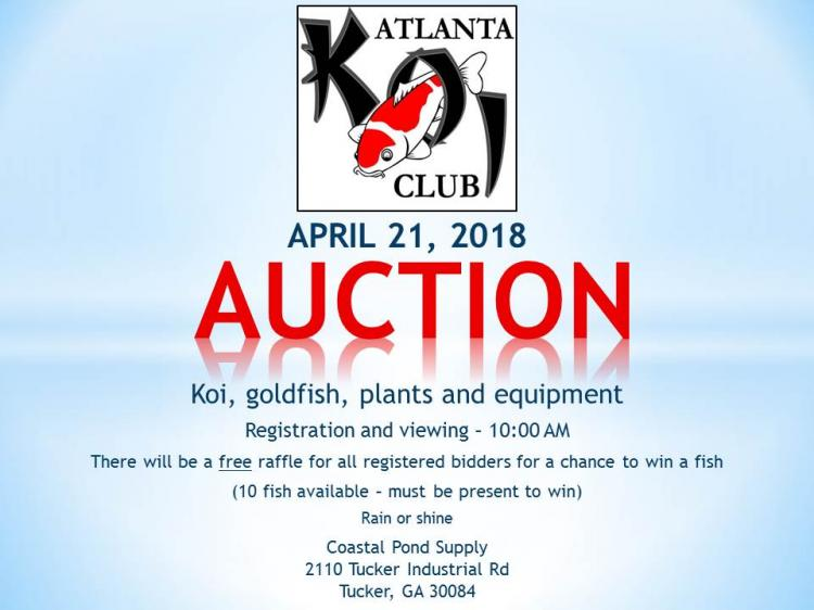 2018 Annual Atlanta Koi Club Auction