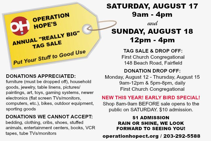 """Operation Hope's """"Really Big"""" Tag Sale"""