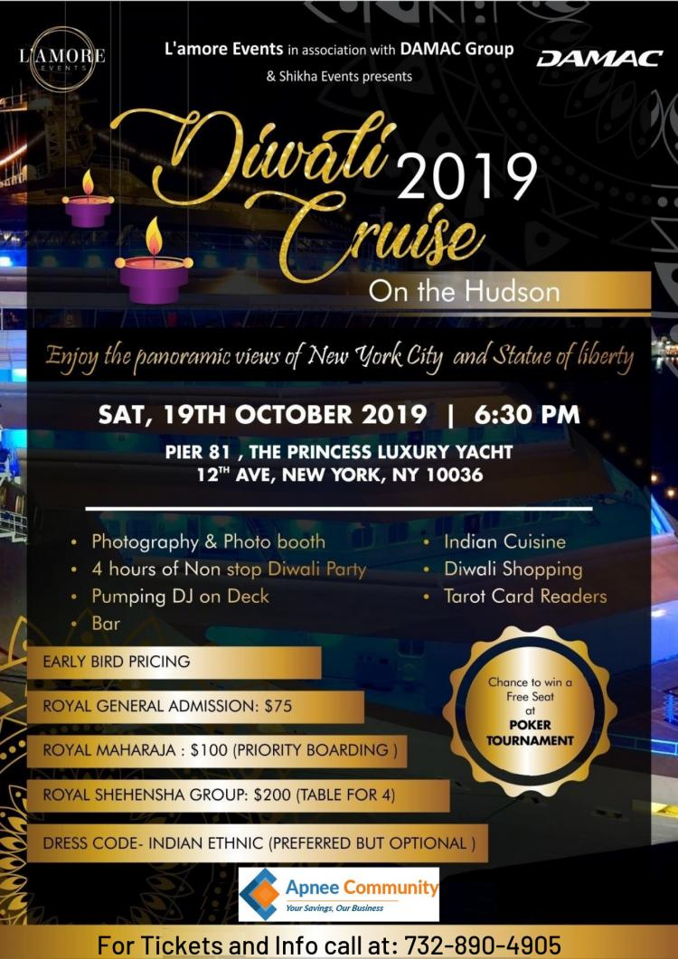 Diwali Cruise 2019 on the Hudson