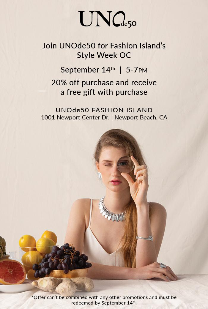 Join UNOde50 for Fashion Island's Style Week OC