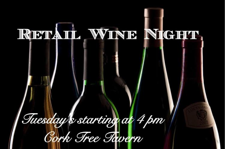 $5 Flatbreads & Retail Wine Night