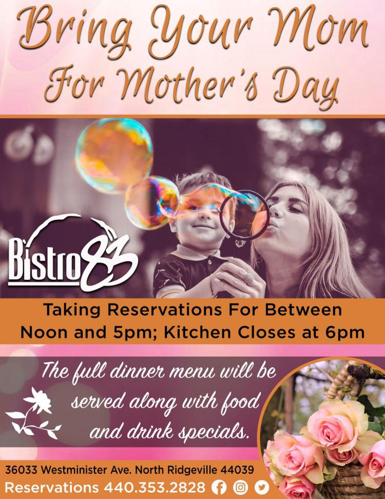 Mother's Day at Bistro 83