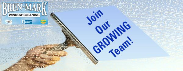 LOOKING FOR A NEW JOB?  BREN-MARK WINDOW CLEANING WILL TRAIN!