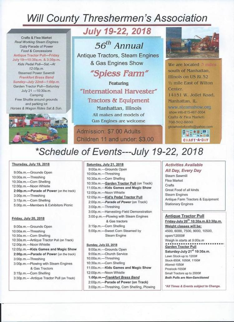 56th Annual Antique Tractor, Steam and Gas Engine Show