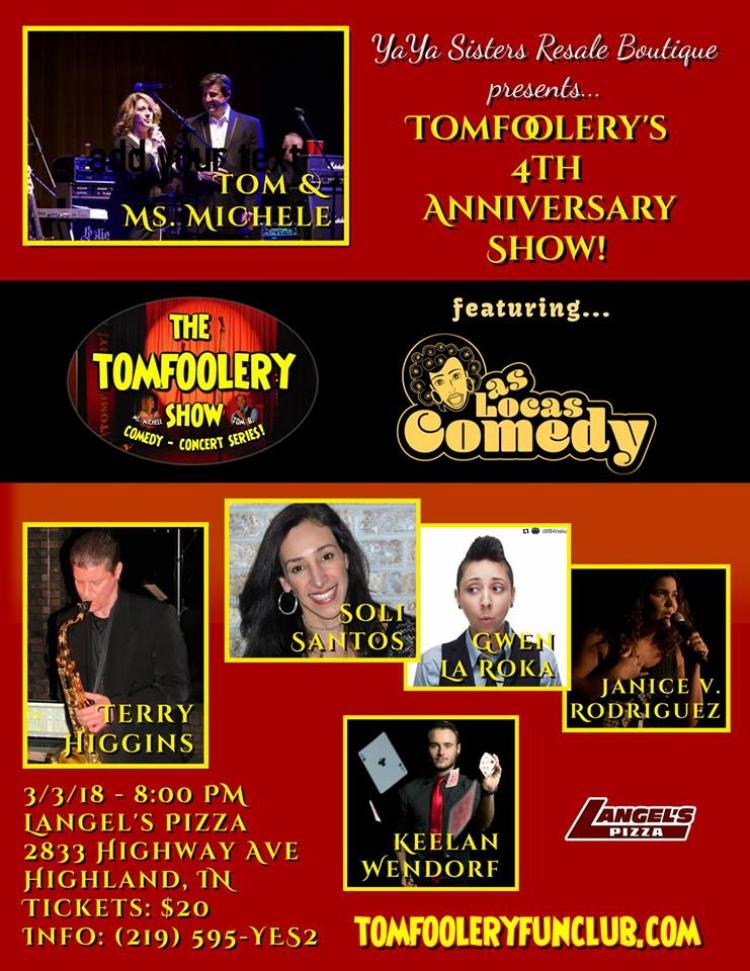 Tomfoolery's 4th Anniversary Show featuring Las Locas Comeday