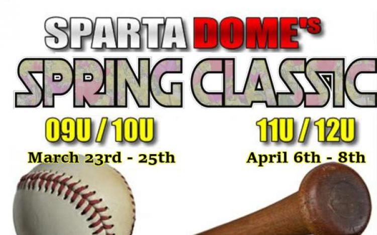 Register for Sparta Dome Baseball 2018 Spring Classic