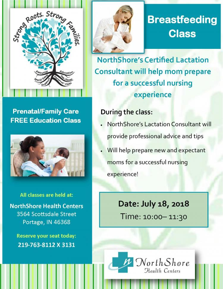 Breastfeeding Class at Portage NorthShore Health Center