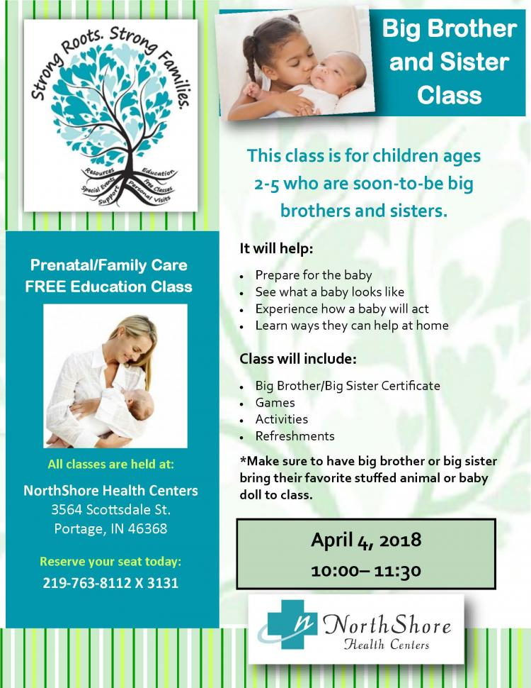 Sibling Class at NorthShore Health Center