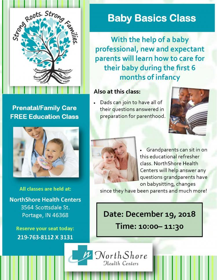 Baby Basics Class at NorthShore Health Center
