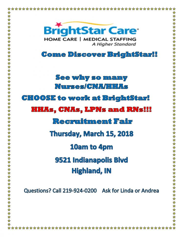 BrightStar Care Recruitment Fair