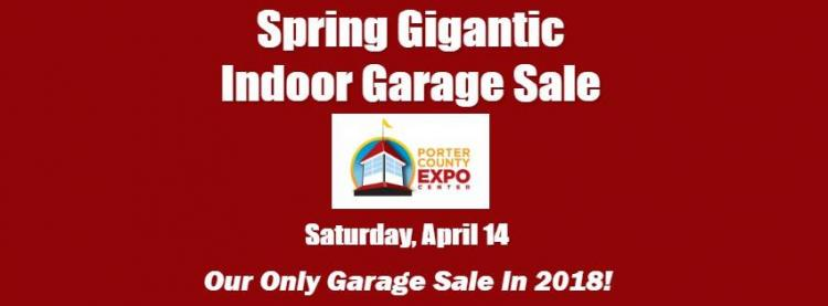 2018 spring gigantic indoor garage sale for Franchise ad garage