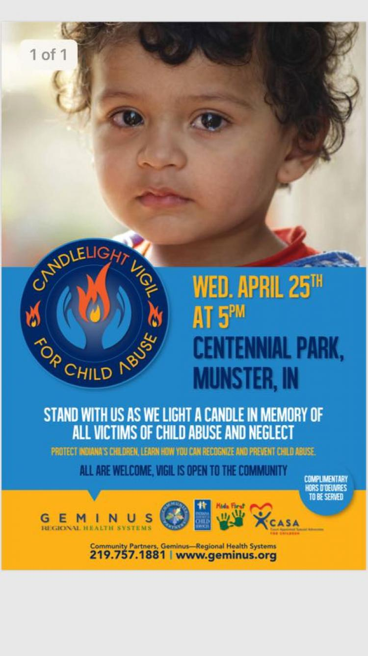 Candlelight Vigil For Child Abuse