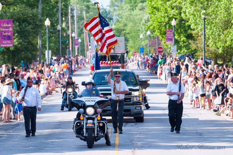 Schererville's Bad to the Bone Parade 2018