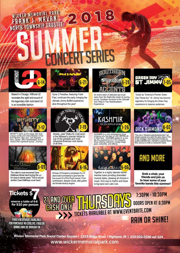 2018 Summer Concert Series in Highland
