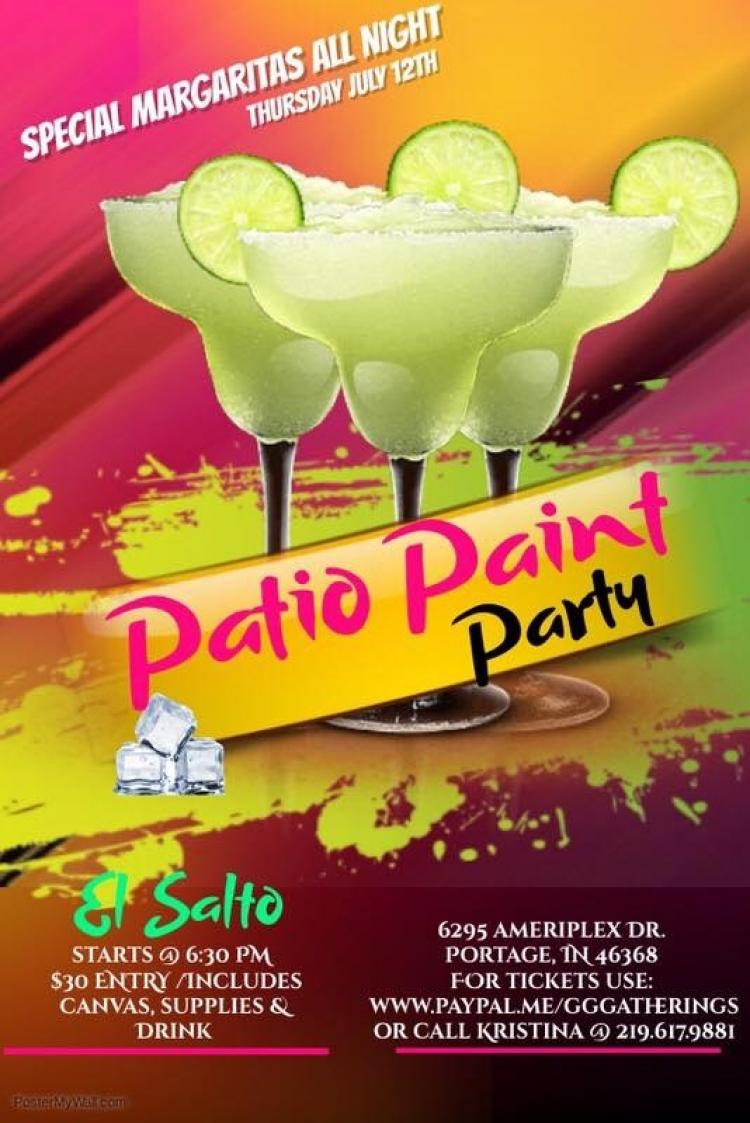 Patio Paint Party at El Salto Portage