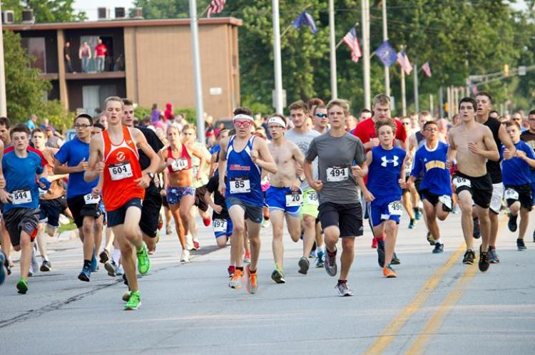 All- American Mile Run in Highland