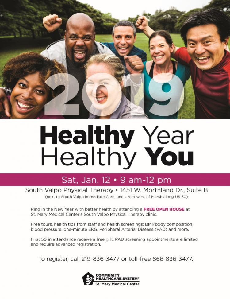 FREE OPEN HOUSE- St. Mary Medical Center's South Valpo PT Clinic