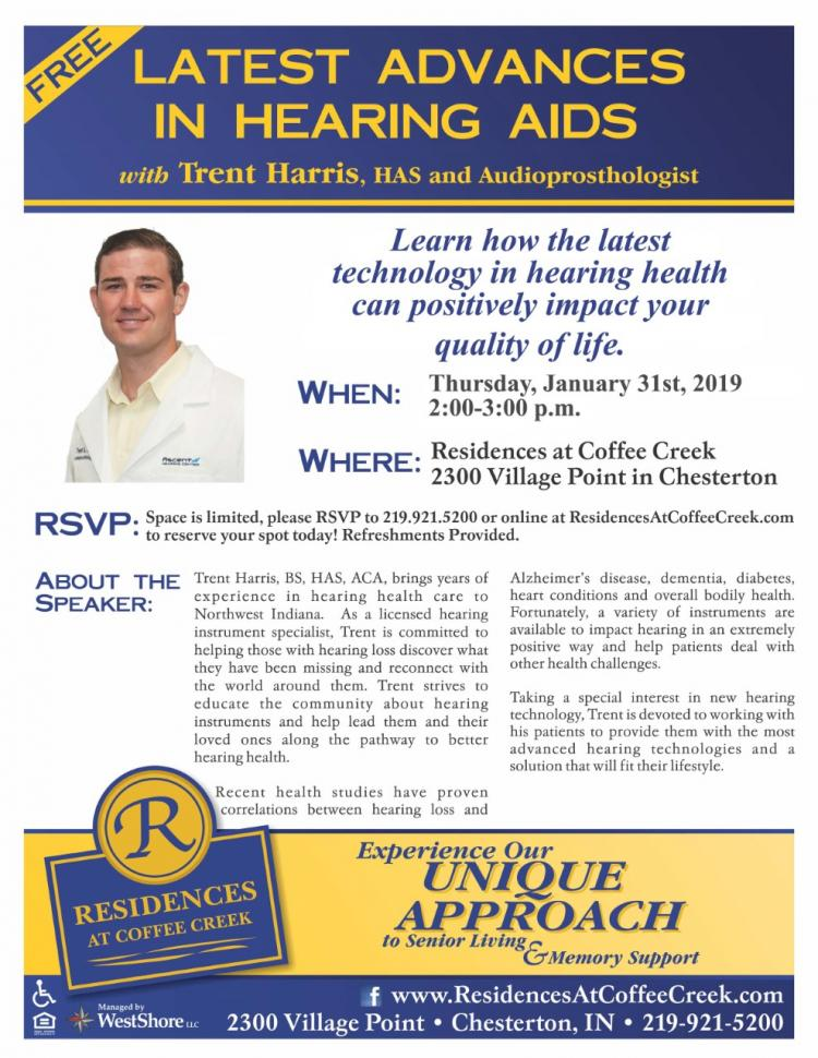Latest Advances in Hearing Aids Seminar- FREE