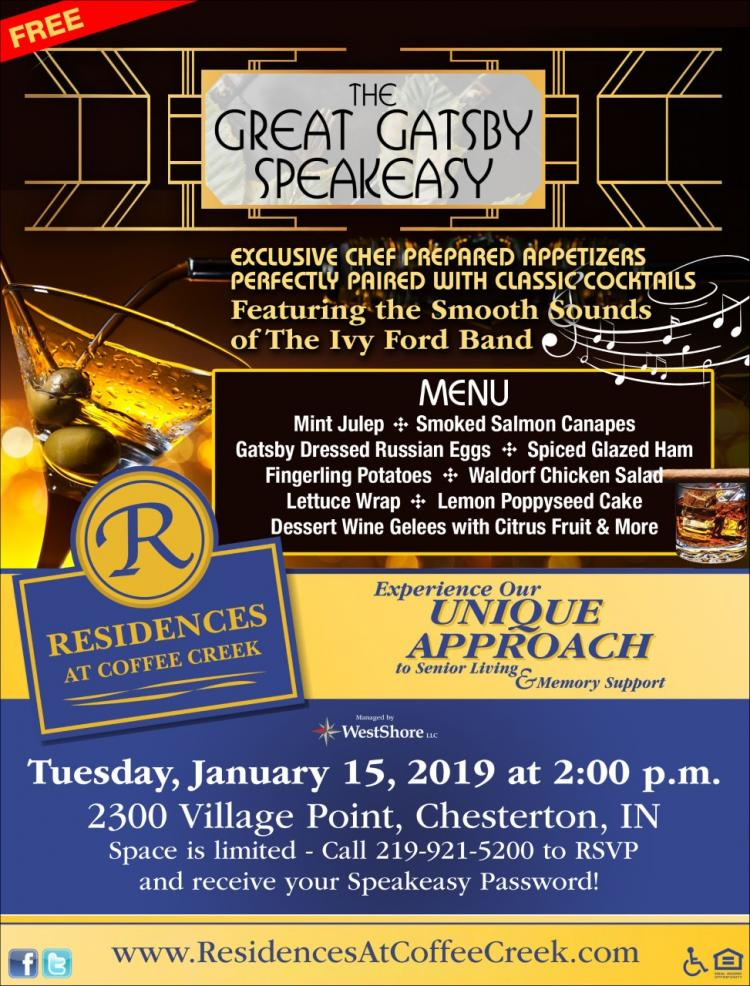 The Great Gatsby Speakeasy at Residences at Coffee Creek