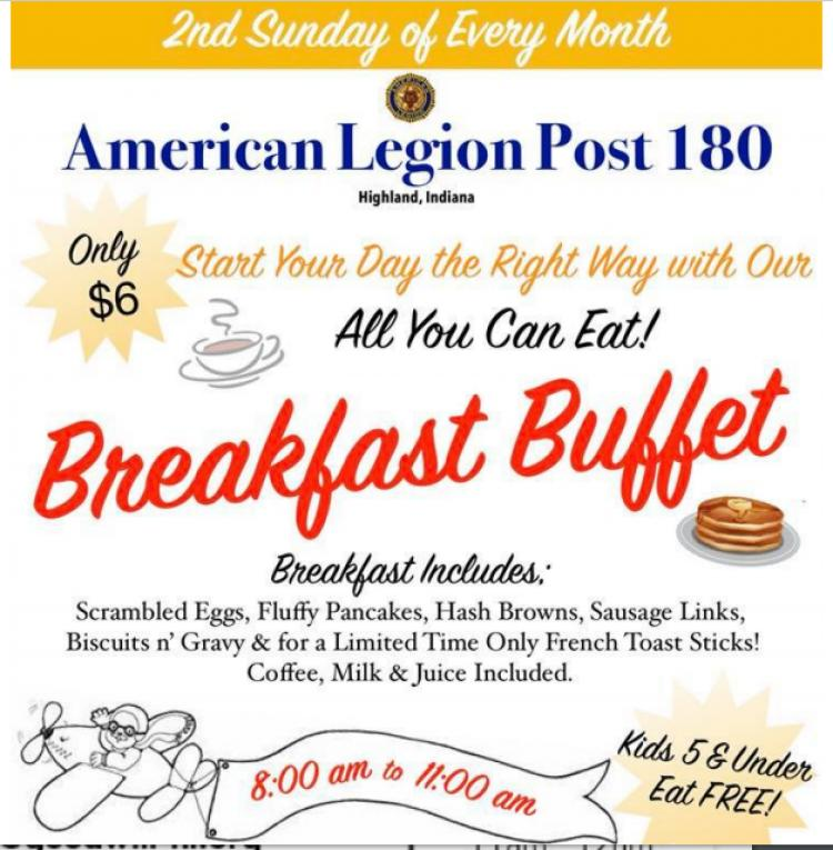 American Legion Post 180 Breakfast Buffet