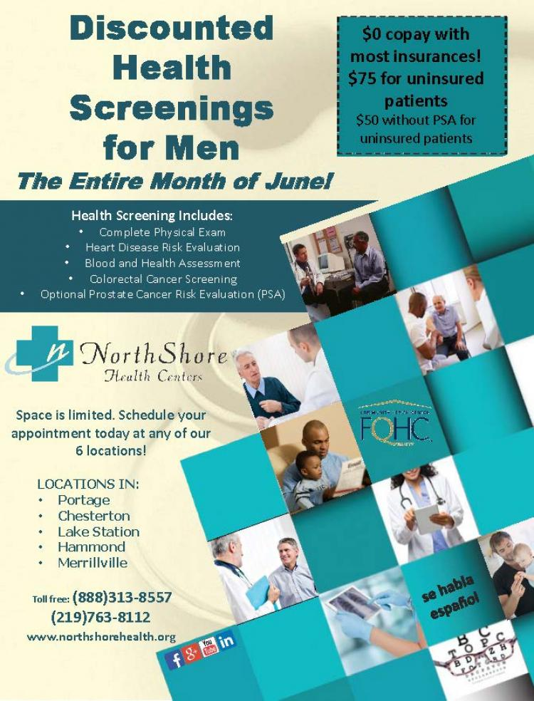 Discounted Health Screenings for Men at Northshore Health Centers