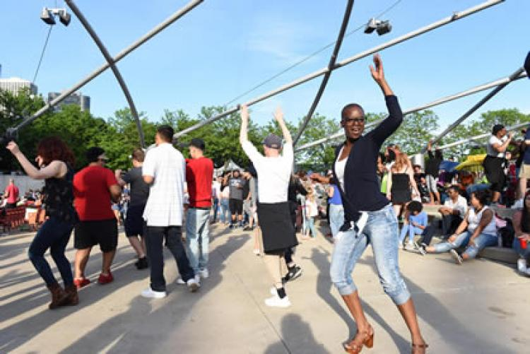 Chicago House Party in Millenium Park